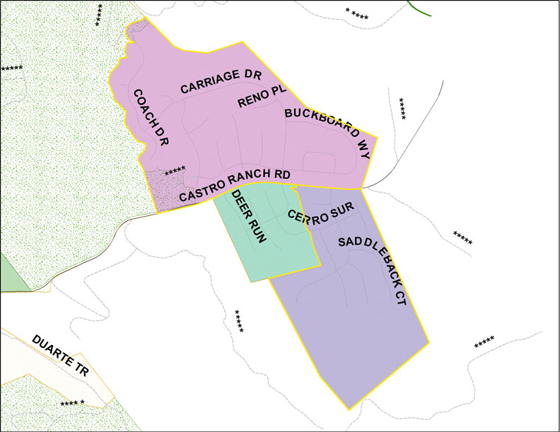 Carriage Hills Neighborhood Council Map
