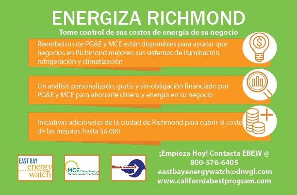 Energize Richmond Small Business Flyer Spanish