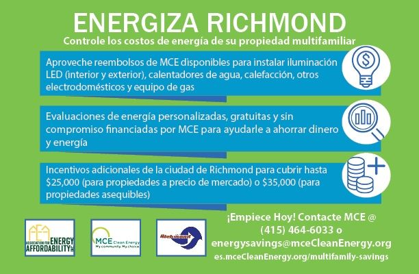 Energize Richmond multi family flyer Spanish