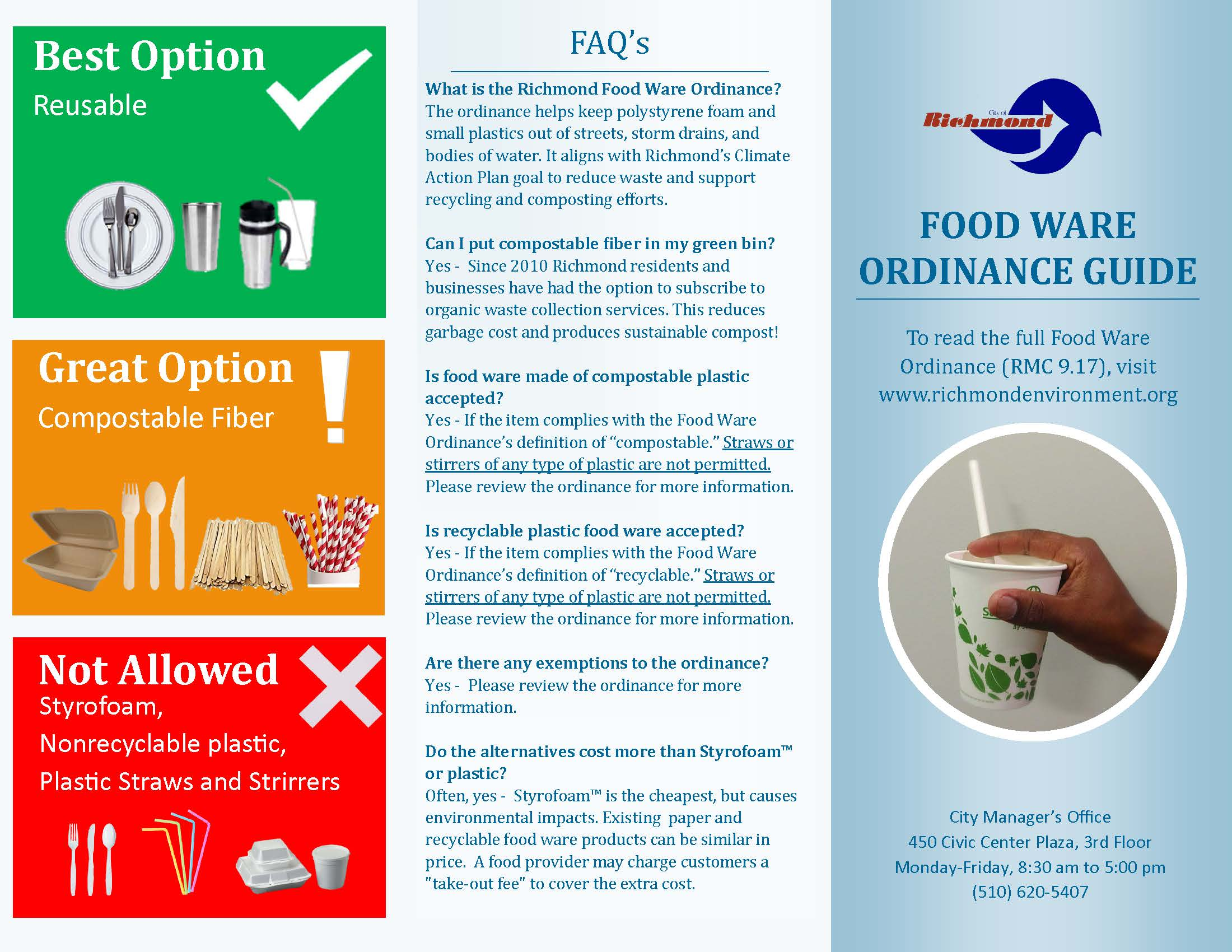 Richmond's Food Ware Ordinance | Richmond, CA - Official Website