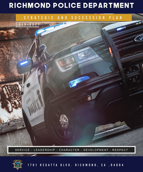 Strategic and Succession Plan, Cover image of Richmond Police Vehicle
