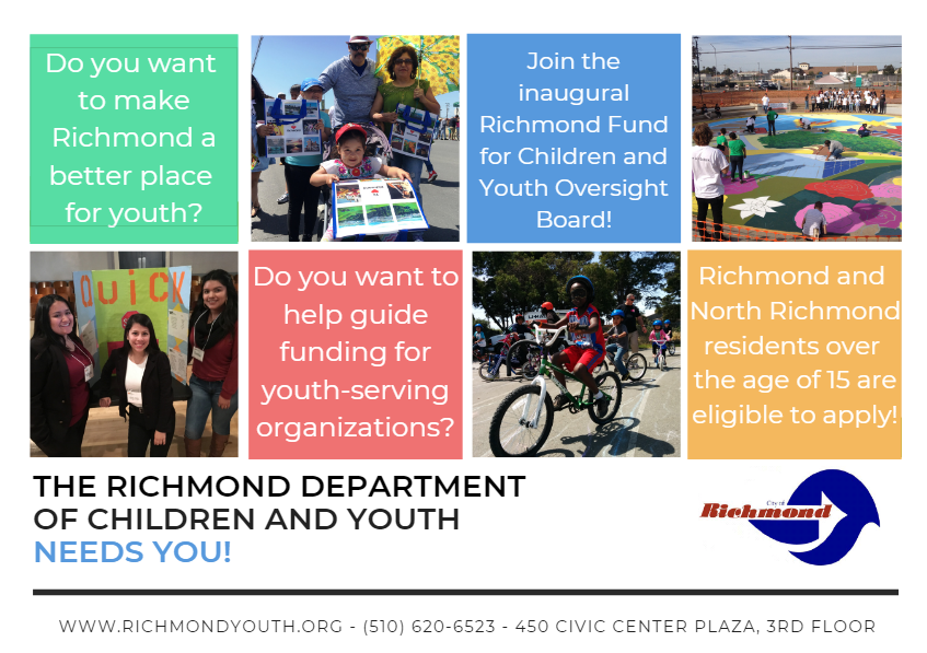 Richmond Fund for Children and Youth Oversight Board Flyer
