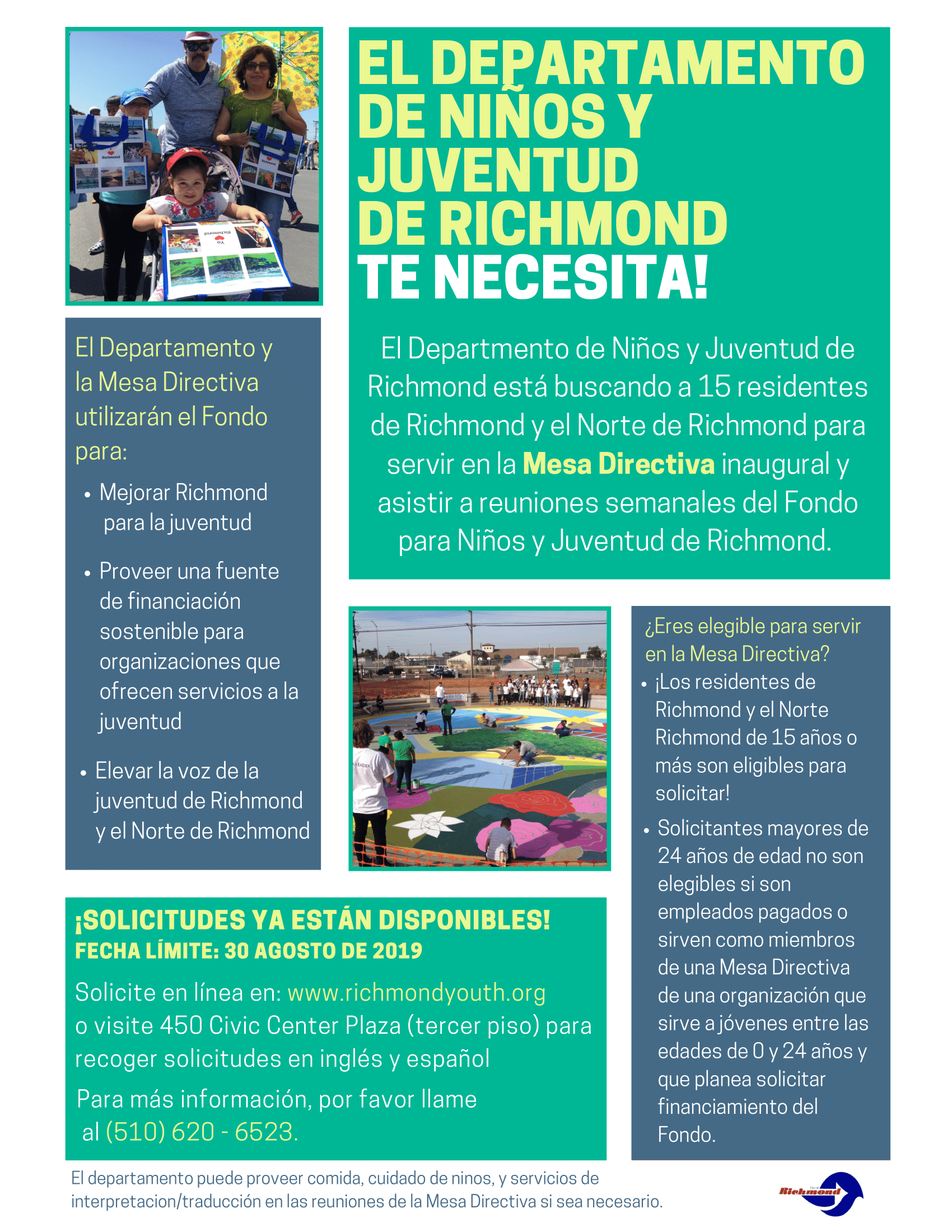 Departamento de Ninos y Juventud de Richmond Flyer (Spanish)