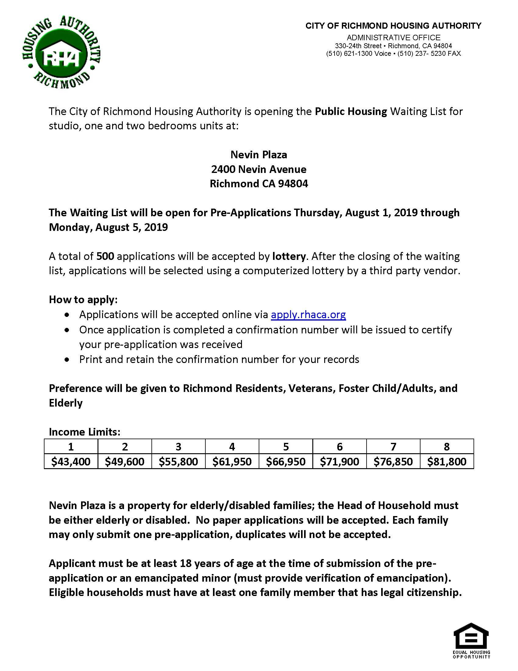 Richmond Housing Authority | Richmond, CA - Official Website