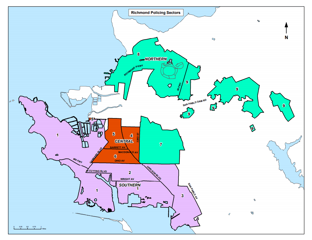 Districts & Beats | Richmond, CA - Official Website on city of seattle boundary map, city of baltimore maryland map, city map of pittsburgh before consolidation, city of council bluffs map, city line map of los angeles,