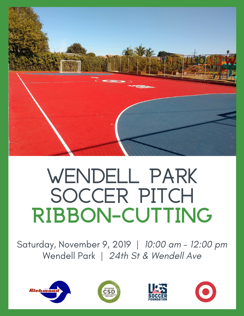 (8.5X11) Wendell Park Soccer Pitch Ribbon-Cutting (Eng)