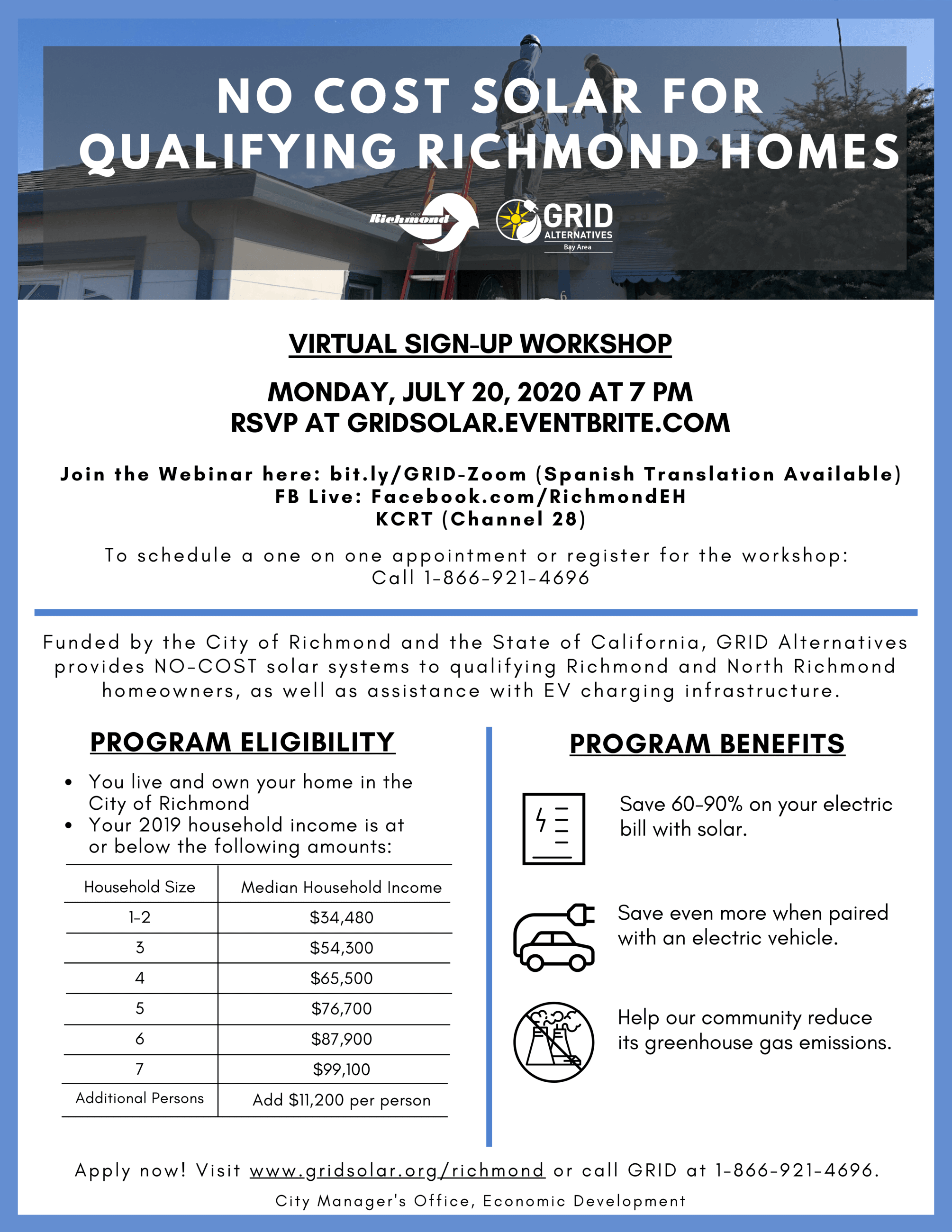 GRID Alternatives Virtual Workshop Flyer English