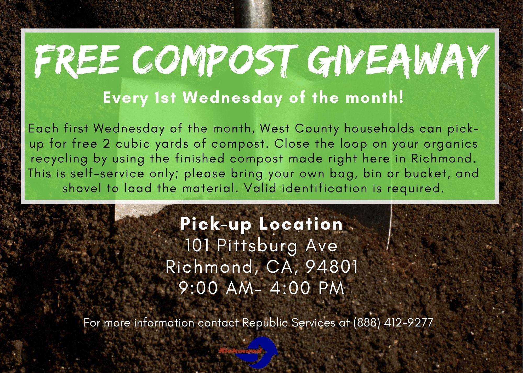 Free Compost Giveaway 8-13-20