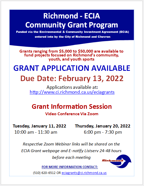 ECIA Fiscal Year 21-22 Grant Info Flyer