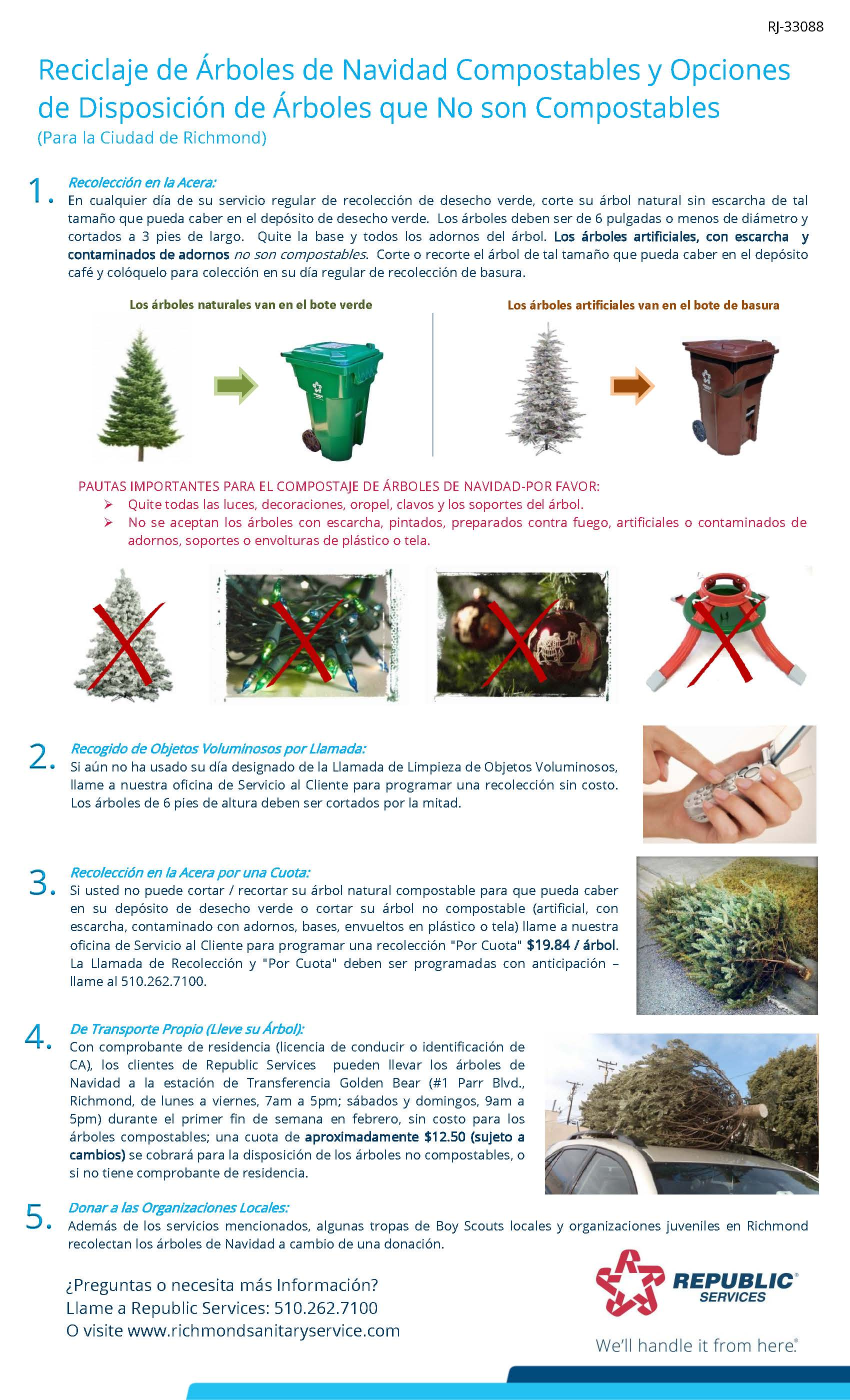 Richmond 2020 Christmas Tree flyer Spanish