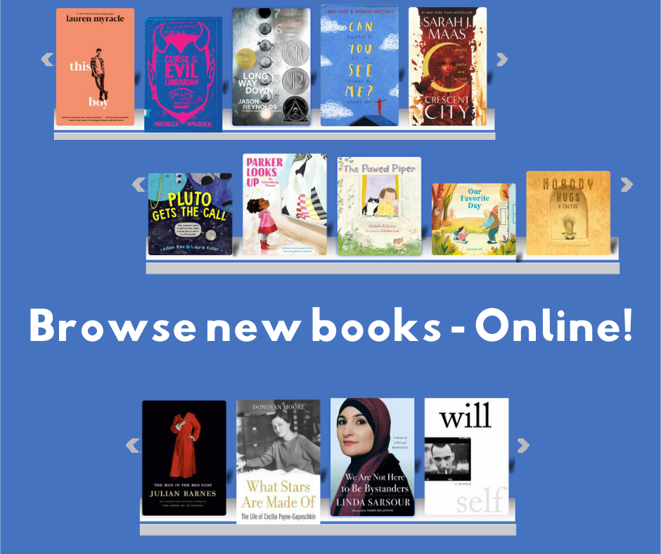 Browse our new virtual bookshelves!