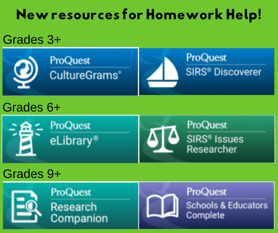 New resources for Homework Help!